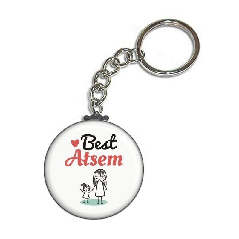idée cadeau pour atsem - porte clé best atsem - tous vos cadeaux pour les atsem en vente sur em-creation.fr