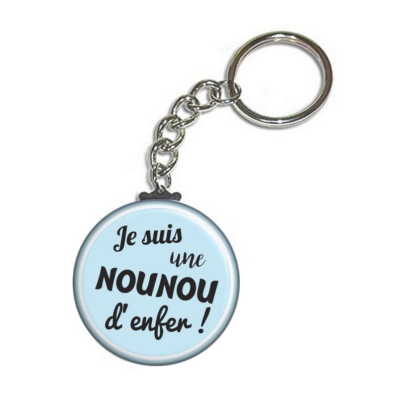 Porte clé nounou - angora