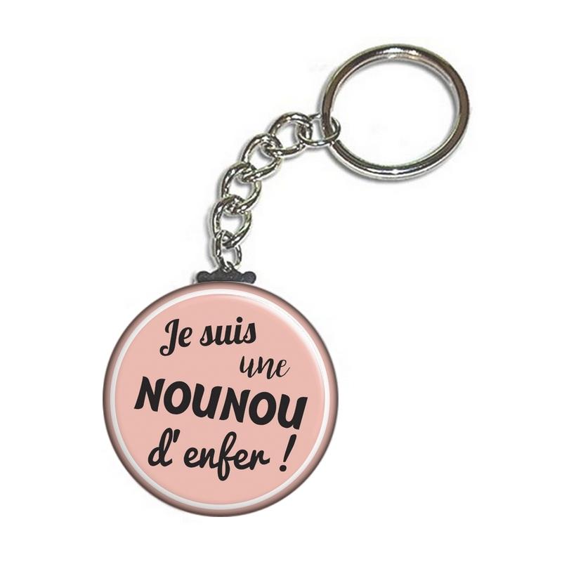 Porte clés pour nounou - angora