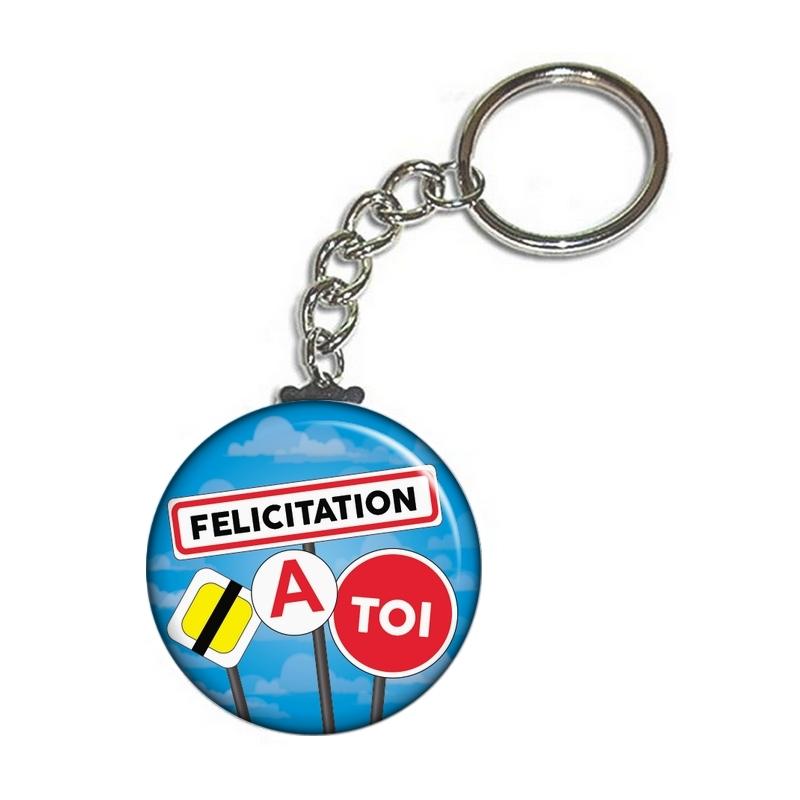 Porte clé permis de conduire - Félicitation permis