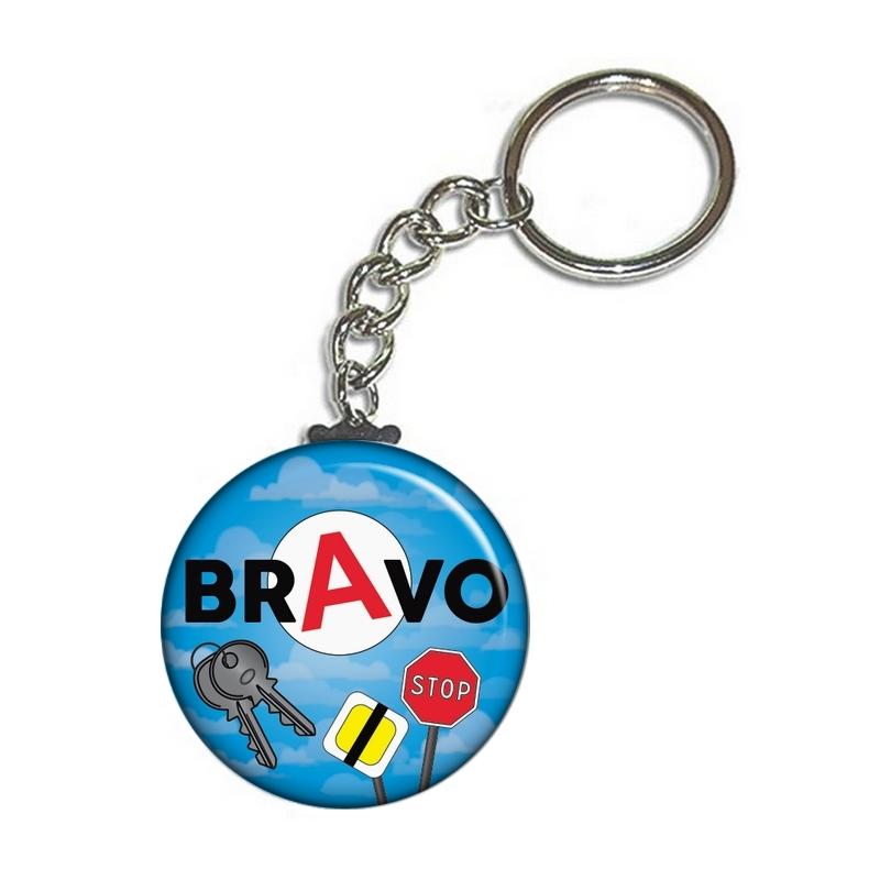 Porte clé permis de conduire bleu - Idée cadeau jeune permis - angora