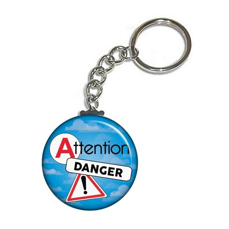 Porte clé permis de conduire bleu - angora