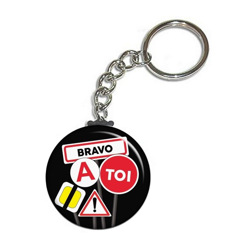 Porte clé permis de conduire noir - angora