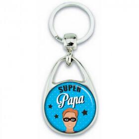 Porte clés angora pour papa super héro - Em création
