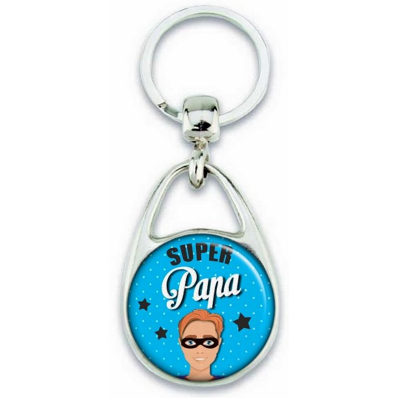 Porte clés angora pour papa super héro