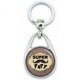 Idée cadeau pour papy - Porte clé pour papy - Porte clés Super Papy - Em création