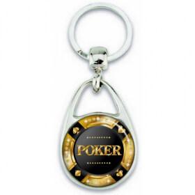 Porte clés poker - Cadeau joueur de Poker - Em création
