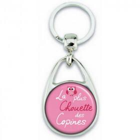 Porte clés Copine - Idée cadeau pour la plus chouette des copine - angora - Em création