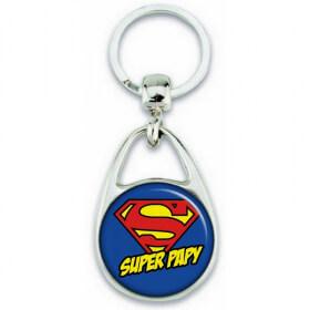 Porte clés Super Papy - Idée cadeau Papy - angora - Em création