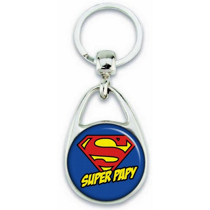 Porte clés Super Papy - Idée cadeau Papy - angora