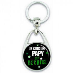 Idée cadeau pour papy - porte clé papy - Em création