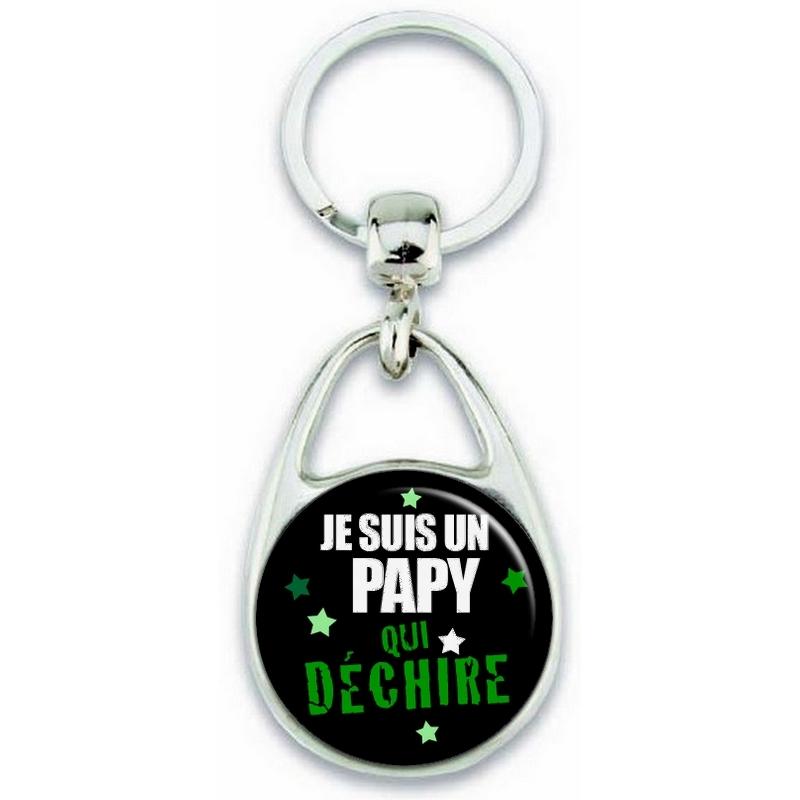 Idée cadeau pour papy - porte clé papy