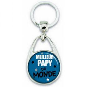 Porte clés Papy - Meilleur Papy - Idée cadeau Papy - angora - Em création