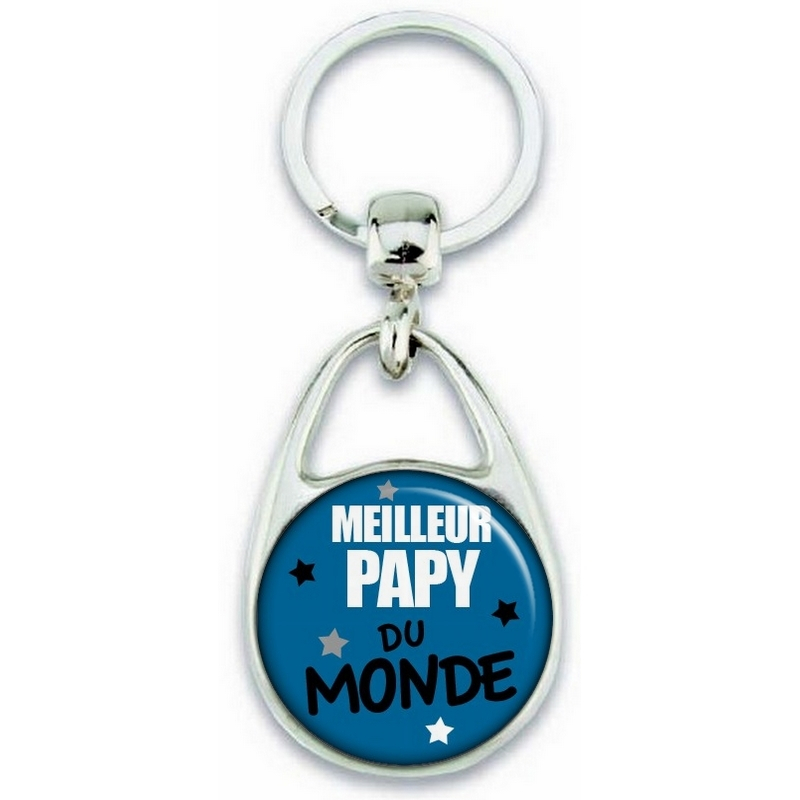 Porte clés Papy - Meilleur Papy - Idée cadeau Papy - angora
