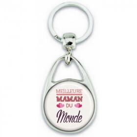 Porte clés Maman - Idée cadeau fête des mères - Cadeau Maman - Meilleure Maman du monde - Em création