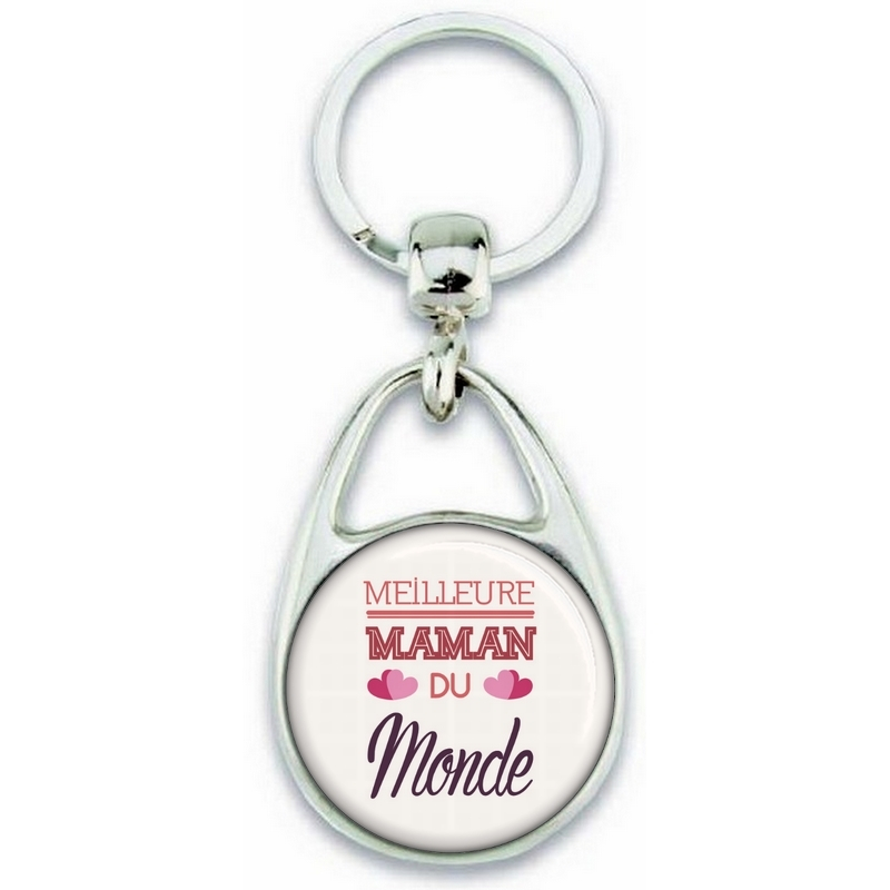 Porte clés Maman - Idée cadeau fête des mères - Cadeau Maman - Meilleure Maman du monde