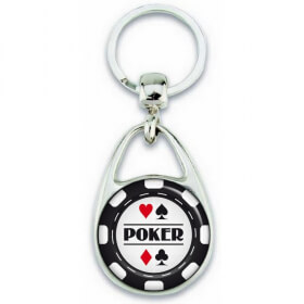 porte clé poker - cadeau poker -porte clé jeton de poker - Em création