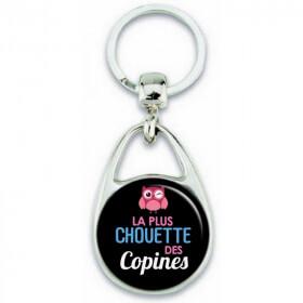 Porte clés Chouette copine - Idée cadeau Copine - Em création