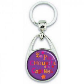 Porte clés copine - Idée cadeau pour copine - Angora - Em création