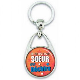 Porte clés Soeur - Idée cadeau Soeur - Anniversaire - Soeur qui déchire - angora