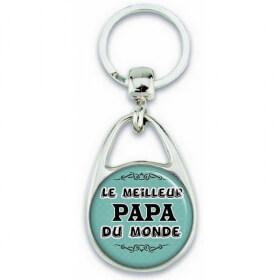 Porte clés Papa - Idée cadeau Papa - Anniversaire - Meilleur Papa du monde - angora - Em création