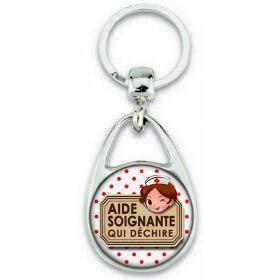 Porte clés Aide Soignante - Idée cadeau Aide Soignante - Anniversaire Aide Soignante - Collègue Aide Soignante - angora - Em création