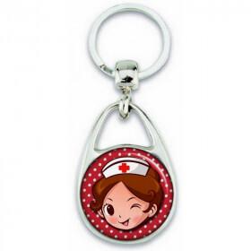 Porte clés Aide Soignante - Infirmière - Idée cadeau Aide Soignante - Anniversaire Aide Soignante - Collègue Aide Soignante - Em création