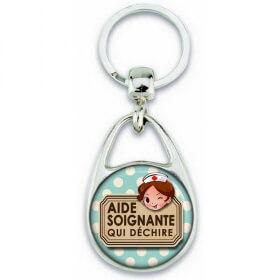Porte clés Aide Soignante - Idée cadeau Aide Soignante - Anniversaire Aide Soignante - Collègue Aide Soignante - Em création