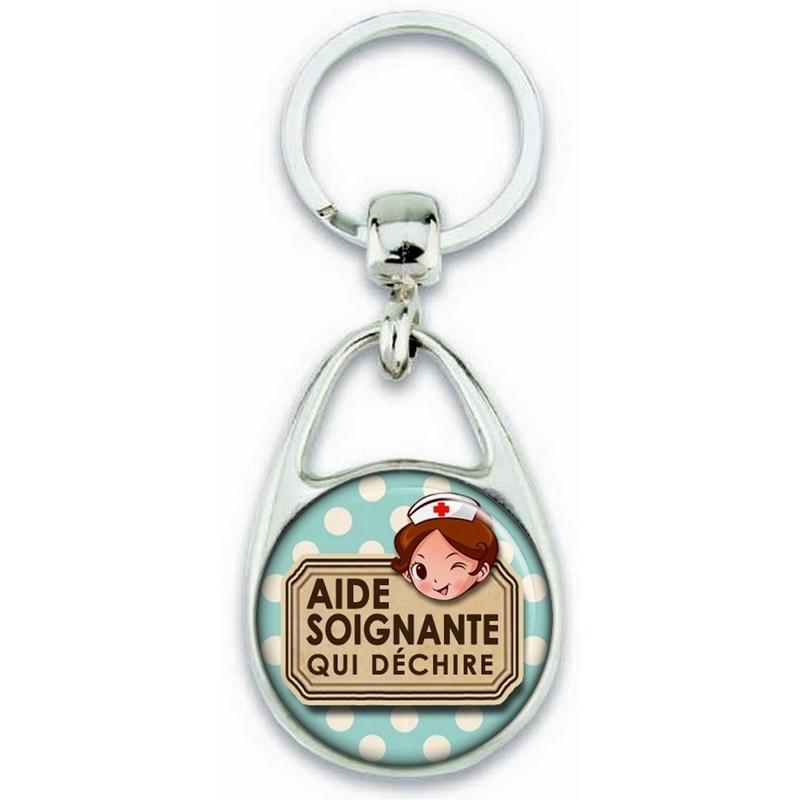 Porte clés Aide Soignante - Idée cadeau Aide Soignante - Anniversaire Aide Soignante - Collègue Aide Soignante