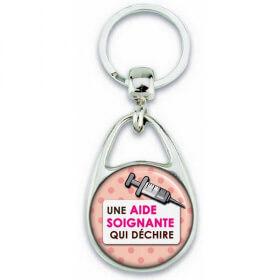 Porte clés Aide Soignante - Idée cadeau Aide Soignante - Anniversaire Aide Soignante - Collègue - Aide soignante qui déchire - Em création