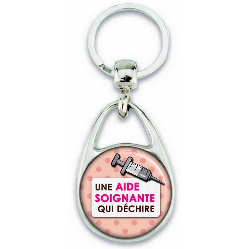 Porte clés Aide Soignante - Idée cadeau Aide Soignante - Anniversaire Aide Soignante - Collègue - Aide soignante qui déchire