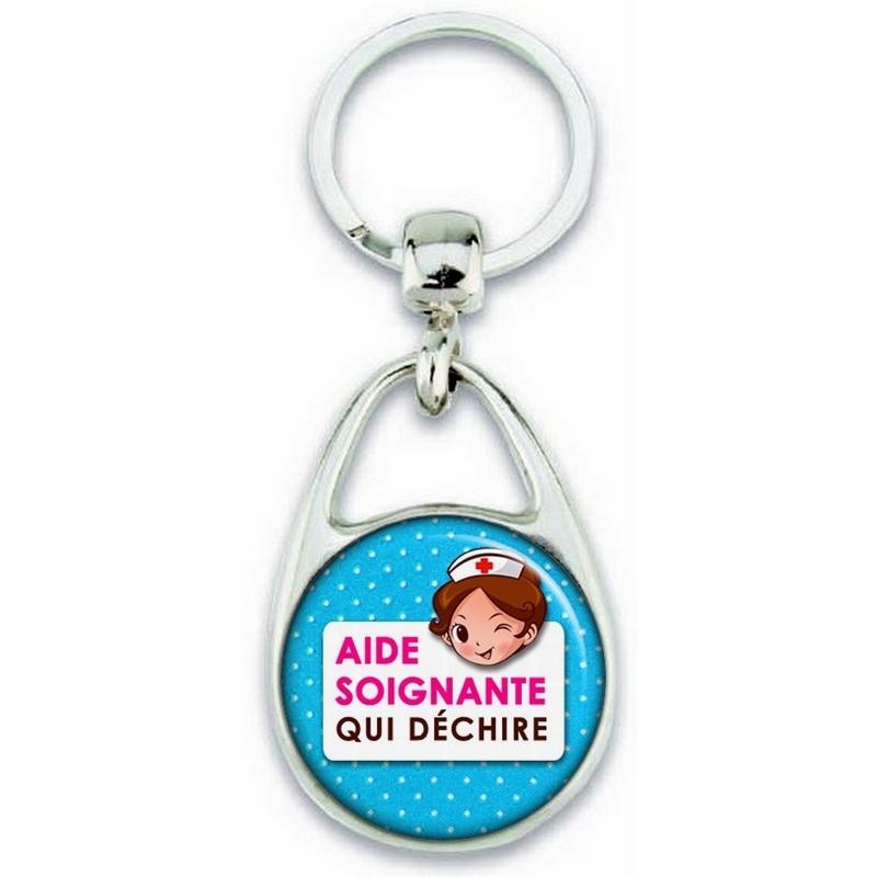 Porte clés Aide Soignante - Idée cadeau Aide Soignante