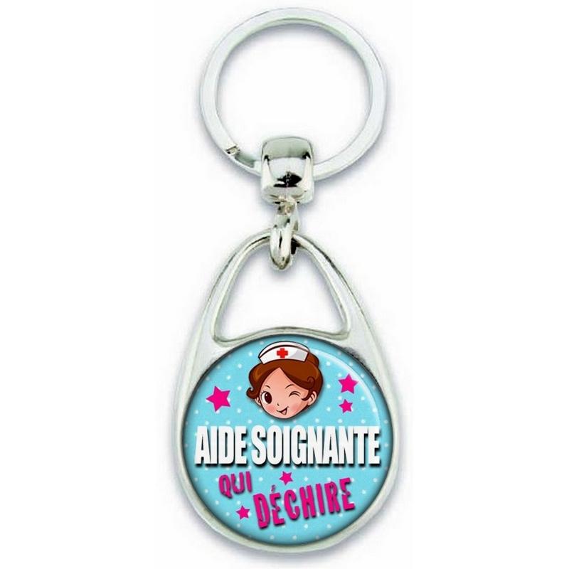 Porte clés pour aide soignante idée cadeau
