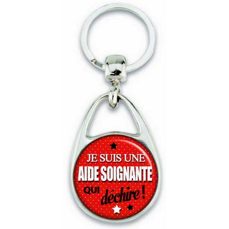 Porte clés Aide Soignante qui déchire