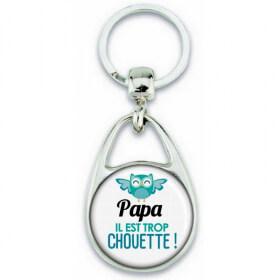 Porte clés Papa - Idée cadeau Papa - Anniversaire Papa - Cadeau fête des pères - Chouette Papa - Em création