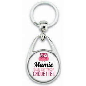 Porte clés Mamie - Idée cadeau Mamie - Anniversaire Mamie - Cadeau fête des grands-mères - Chouette Mamie - Em création