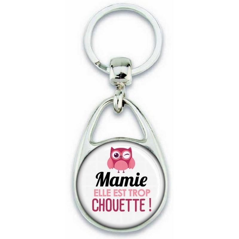 Porte clés Mamie - Idée cadeau Mamie - Anniversaire Mamie - Cadeau fête des grands-mères - Chouette Mamie