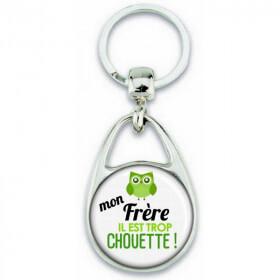 Porte clés Frère - Idée cadeau Frère - Anniversaire Frère - Chouette Frère - angora - Em création