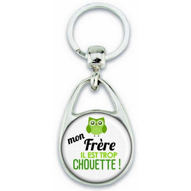 Porte clés Frère - Idée cadeau Frère - Anniversaire Frère - Chouette Frère - angora