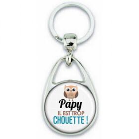 Porte clés Papy - Idée cadeau Papy - Anniversaire Papy - Chouette Papy - fête des grand-pères - Em création