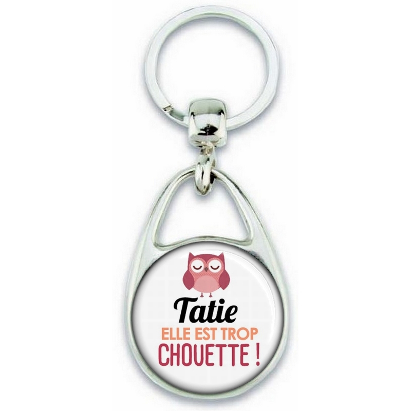 Porte clés Tatie - Idée cadeau Tatie - Anniversaire Tatie - Chouette Tatie - angora