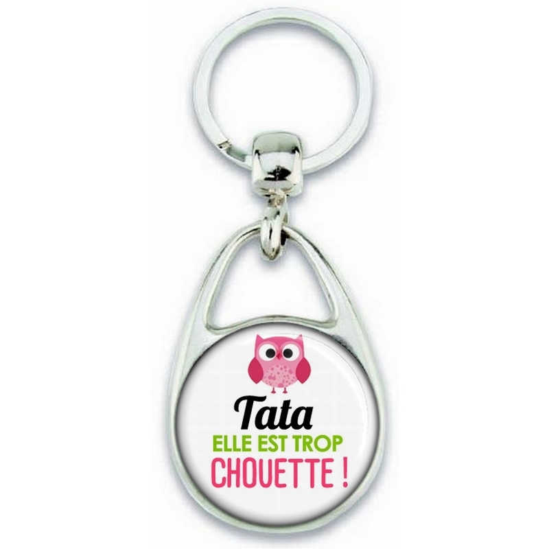 Porte clés Tata - Idée cadeau Tata - Anniversaire Tata - Chouette Tata - angora
