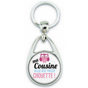 Porte clés Cousine - Idée cadeau Cousine - Anniversaire Cousine - Chouette Cousine