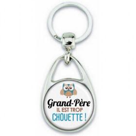 Porte clés Grand-père - Idée cadeau Grand-père - Anniversaire Grand-père - Chouette Grand-père - Em création