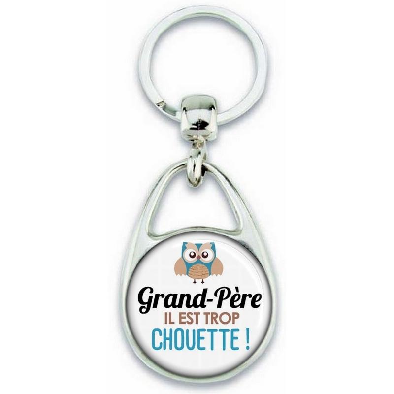 Porte clés Grand-père - Idée cadeau Grand-père - Anniversaire Grand-père - Chouette Grand-père