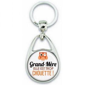 Porte clés Grand-mère - Idée cadeau Grand-mère - Anniversaire Grand-mère - Chouette Grand-mère - Em création