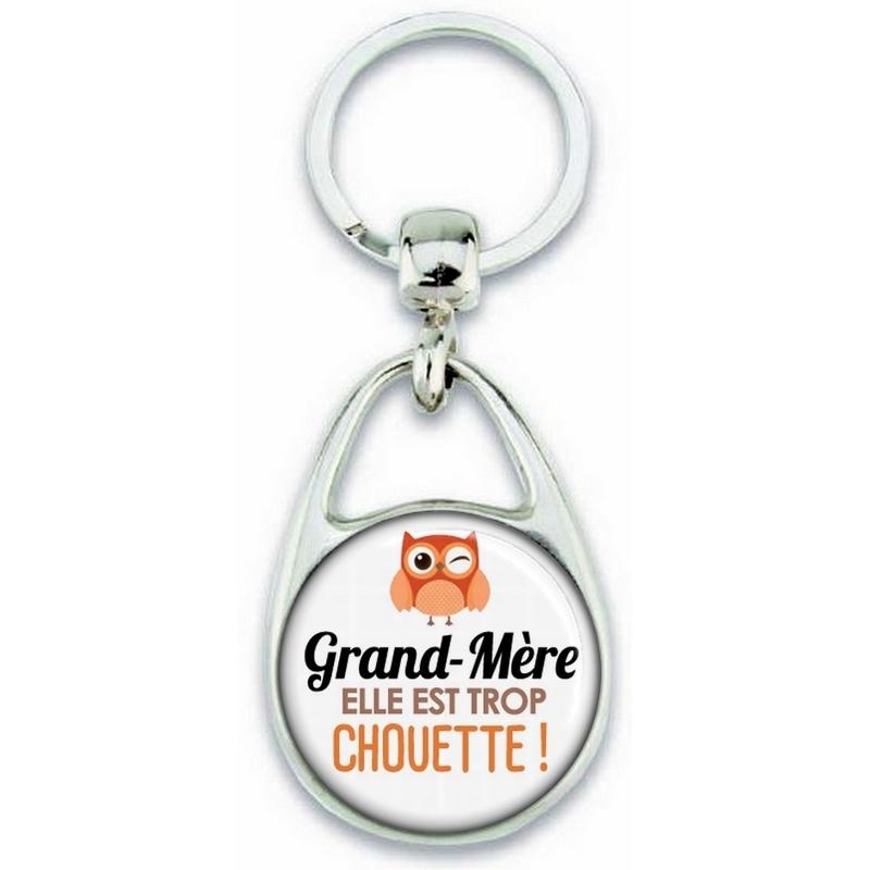 Porte clés Grand-mère - Idée cadeau Grand-mère - Anniversaire Grand-mère - Chouette Grand-mère