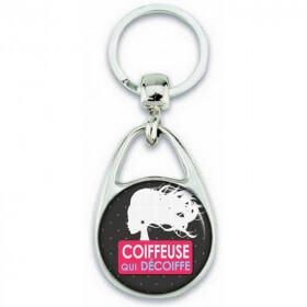 Porte clés Coiffeuse - Idée cadeau Coiffeuse - angora - Em création
