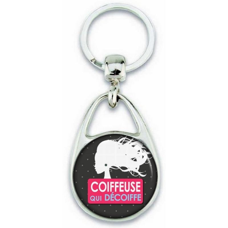 Porte clés Coiffeuse - Idée cadeau Coiffeuse - angora