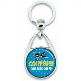 Porte clés Coiffeuse - Idée cadeau Coiffeuse - Em création